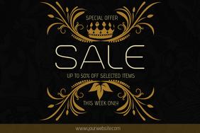elegant gold landscape sale poster template