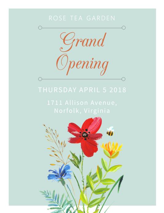 Elegant Grand Opening Flyer Template