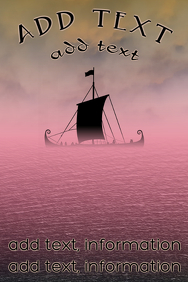Elegant historic viking vessel ship poster te