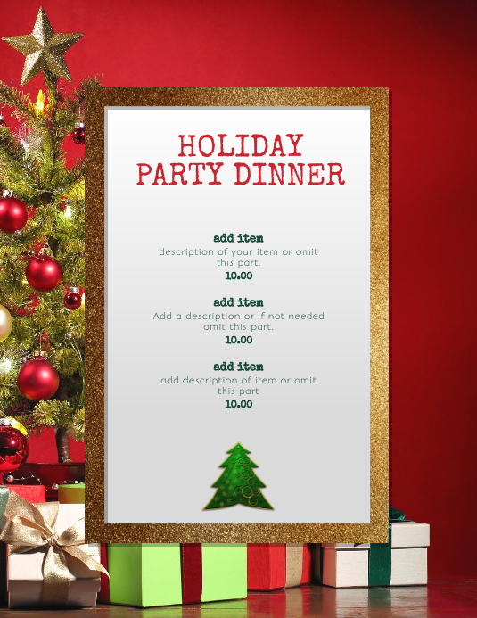 Elegant Holiday Christmas Event template