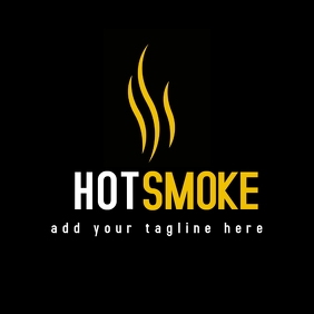 elegant hot smoke logo
