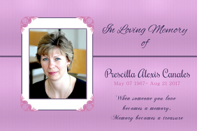 Elegant In Loving Memory Poster Template