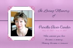 Elegant In Loving Memory Poster Template