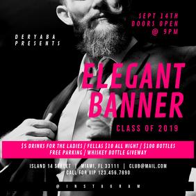 Elegant Men Businessman Square Banner