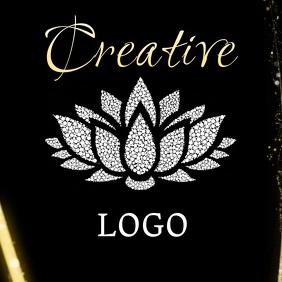 elegant modern logo design Square (1:1) template