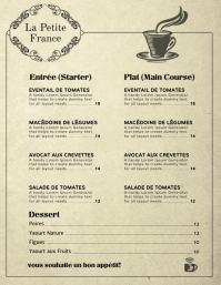 Elegant Modern Menu Card Template