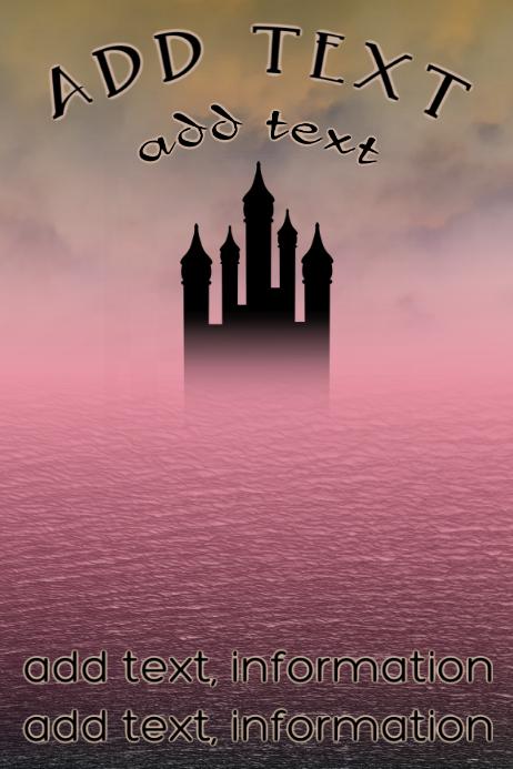 Elegant old building - castle poster template
