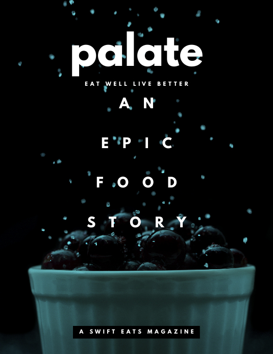 Elegant Palate Food Magazine Cover Template Ulotka (US Letter)