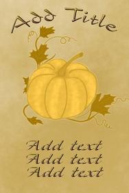 Elegant pumpkin on old paper style