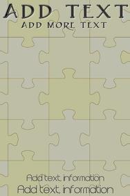 Elegant Puzzle subtle shades in the backgroun