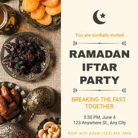 Elegant Ramadan Iftar party Instagram Template