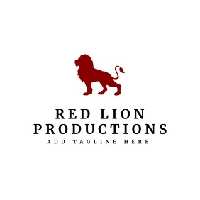 Elegant red lion logo