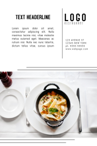 elegant restaurant promotion advertising poster template