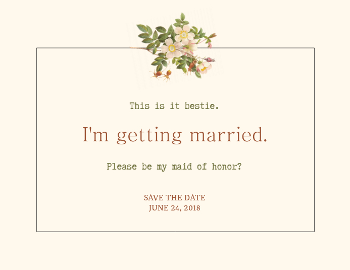 Elegant Save The Date Card Template  Postermywall
