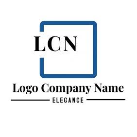Elegant square logo Logotipo template