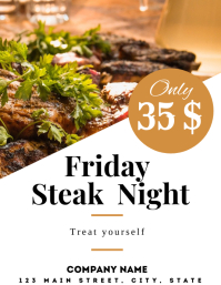 Elegant steak night flyer advertisement
