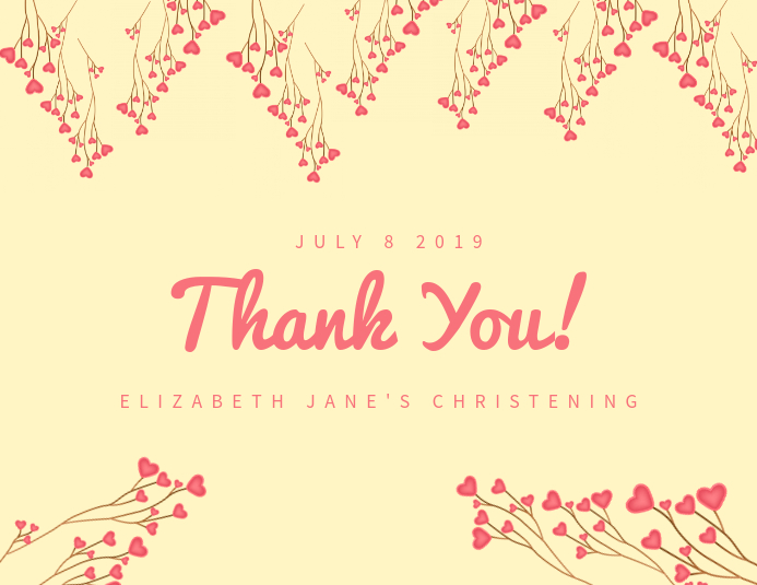 Elegant thank you card template