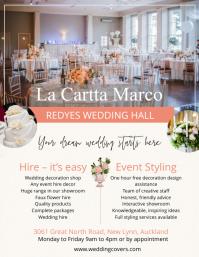Elegant venue hire flyer template