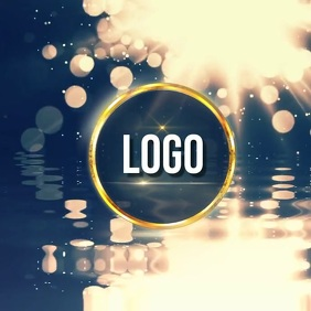 elegant water light bright logo design
