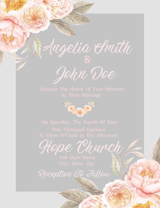 elegant wedding invitation template postermywall