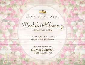Elegant Wedding Save The Date Card Template