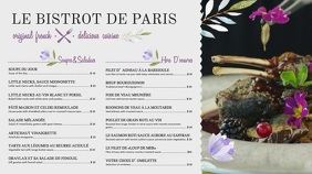 Elegant White French Menu Template