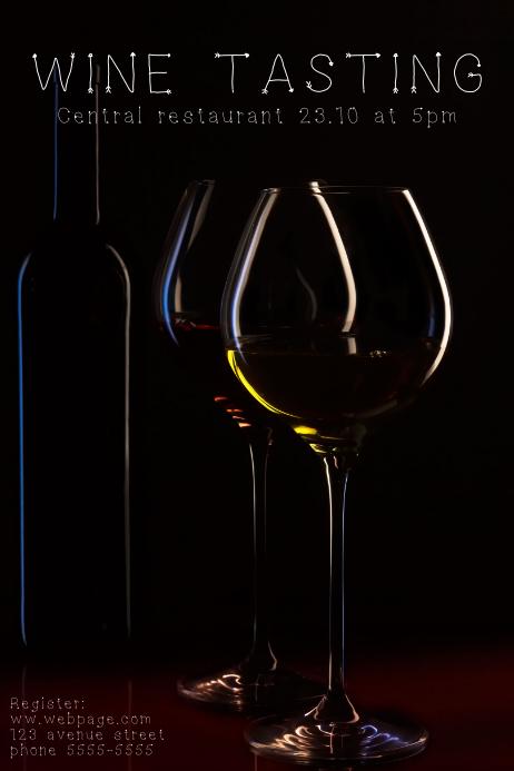 Elegant Wine tasting event Poster Flyer Template