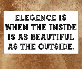 ELEGENCE AND BEAUTY QUOTE TEMPLATE