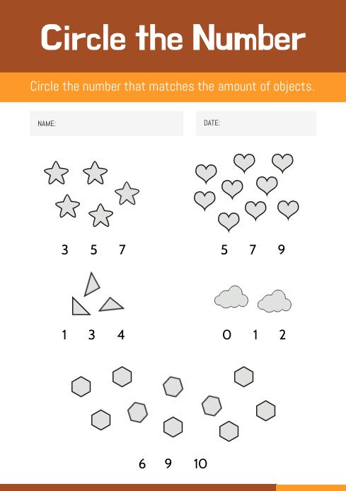 Elementary Class Mathematics Worksheet Template PosterMyWall