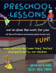 Elementary pre-school tutor flyer advertisement template