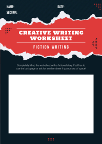 Elementary School Creative Writing Worksheet