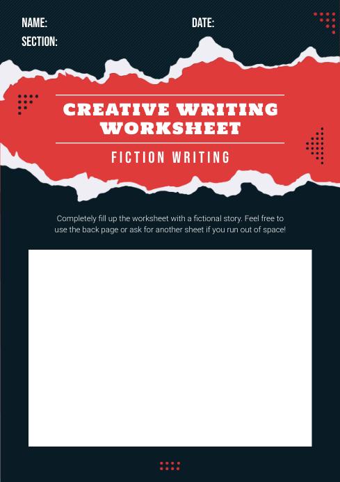 Elementary School Creative Writing Worksheet