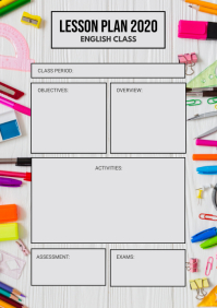 Elementary School Lesson Planner A4 template
