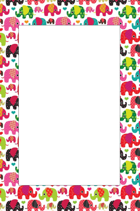 Elephant Party Prop Frame Template | PosterMyWall