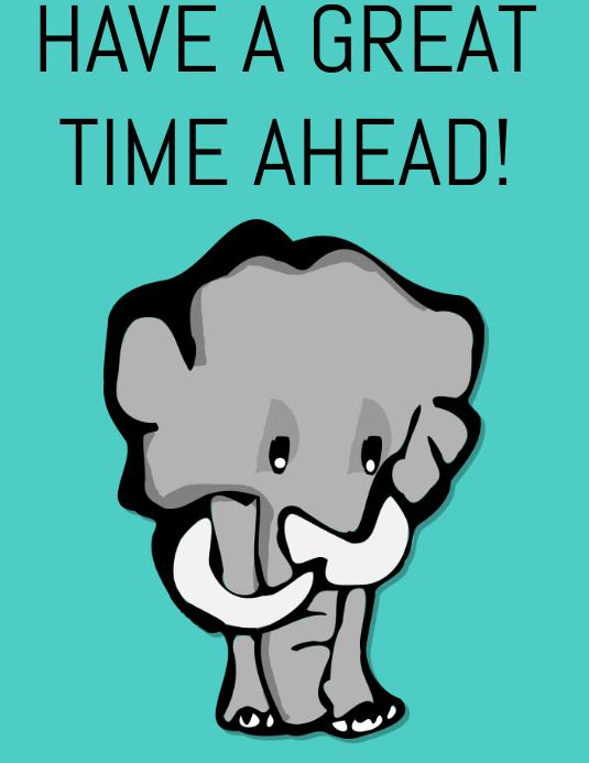 Elephant Poster Folder (US Letter) template
