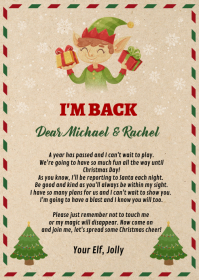 Elf Arrival Note template A6