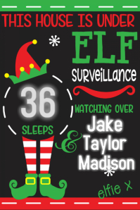Elf Surveillance Christmas Poster Christmas Countdown flyer
