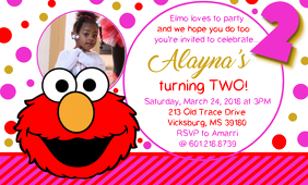 Elmo Birthday Party Invitation Template Postermywall