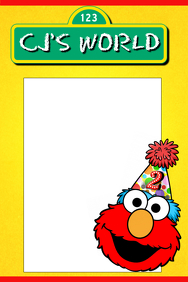 Elmo's World Party Prop Frame