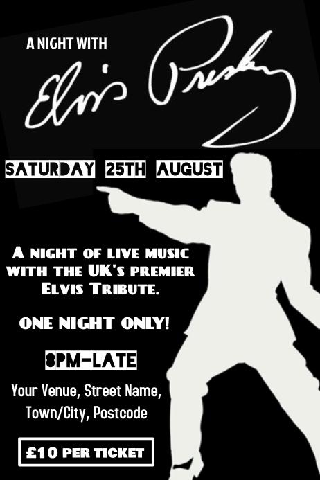Elvis Tribute Poster