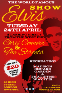 Elvis Tribute Show Poster