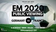 EM Euro 2020 Soccer Public Viewing Live Watch