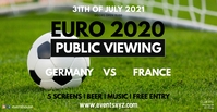 EM Euro 2020 Soccer Public Viewing Live Watch Facebook-evenementomslag template