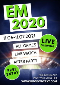 EM Euro cup Soccer Public Viewing Live Watch