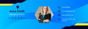 email header, corporate email signature E-Mail-Überschrift template