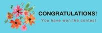 Email header,event,congratulations En-tête d'e-mail template