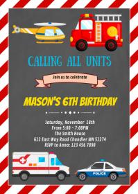 Emergency birthday party invitation