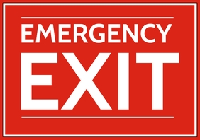 Emergency Exit Sign Board Template A4