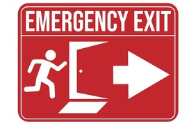 Emergency Exit Sign Tabloid template