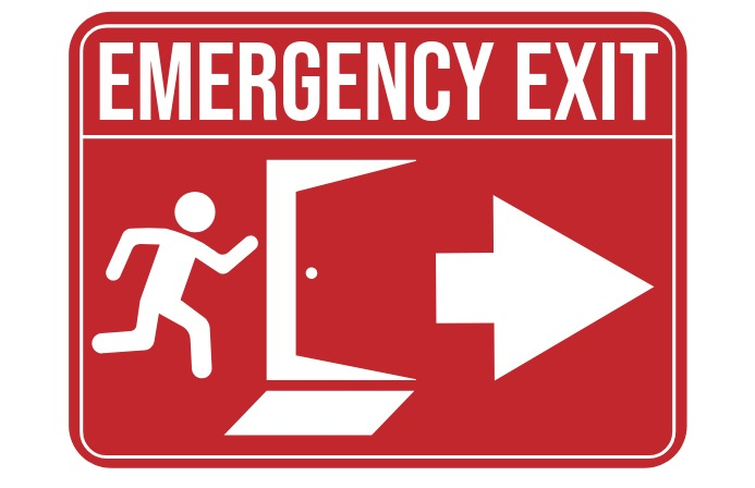 Emergency Exit Sign 小报 template